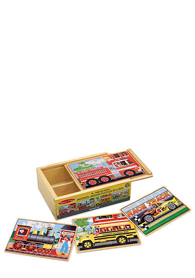 Melissa & Doug® Vehicle Puzzles in a Box - Online Only