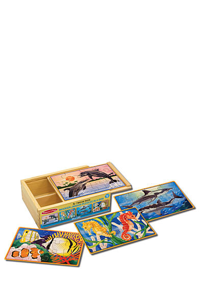 Melissa & Doug® Sea Life Puzzles in a Box - Online Only