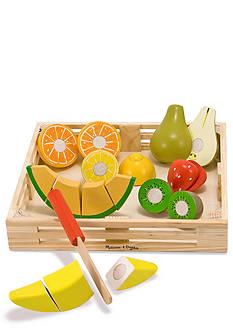 Melissa & Doug® Wooden Cutting Fruit Crate