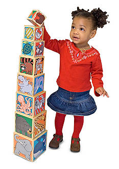 Melissa & Doug® Wooden Animal Kingdom Nesting Blocks