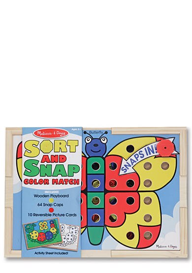 Melissa & Doug® Sort and Snap Color Match Butterfly - Online Only
