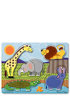Melissa & Doug® Zoo Animals Touch and Feel Puzzle - Online Only
