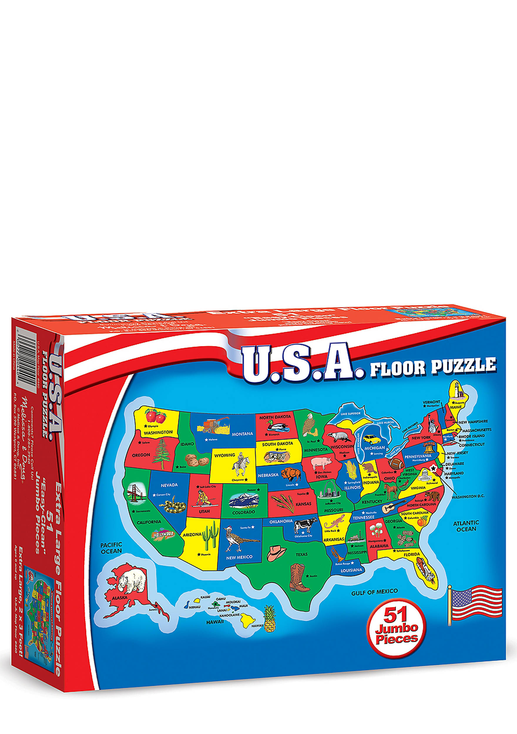 Melissa  Doug United States Map Floor Puzzle Online Only Belk - Us map online puzzle