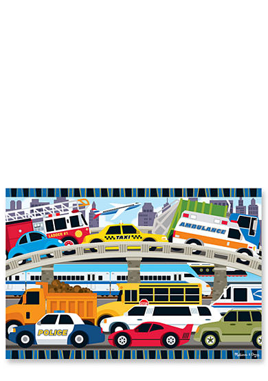Melissa & Doug® Traffic Jam Floor Puzzle 24-pieces - Online Only