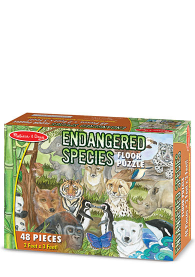 Melissa & Doug® Endangered Species Floor Puzzle 48-Piece - Online Only