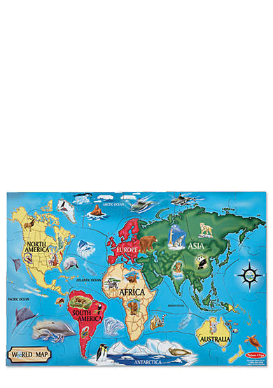 Melissa & Doug® World Map 33-Piece Floor Puzzle - Online Only