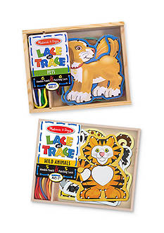 Melissa & Doug® Lace & Trace Bundle- Pets & Wild Animals