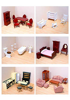 Melissa & Doug Victorian Dollhouse Furniture Bundle - Online Only