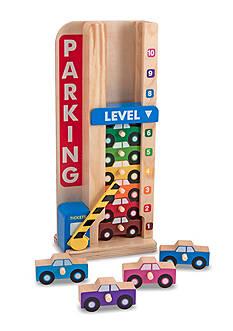 Melissa & Doug Wooden Sliding Cars Parking Tower