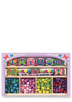 Melissa & Doug® Wooden Butterfly Bead Jewelry Set