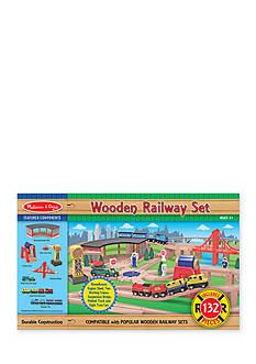 Melissa & Doug® Wood Railway Set - Online Only
