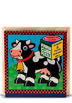 Melissa & Doug® Farm Cube Puzzle - Online Only