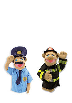 Melissa & Doug® Police Officer And Firefighter Puppet Bundle