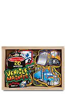 Melissa & Doug® Wooden Vehicle Magnets -