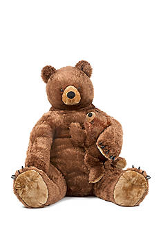 Melissa & Doug Brown Bear N Cub Plush-Online Only