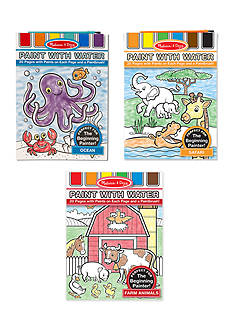 Melissa & Doug® Paint With Water Bundle- Farm, Ocean and Safari
