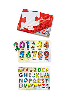 Melissa & Doug® ABC & 123 Puzzle Keeper