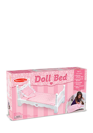 Melissa & Doug® Wooden Doll Bed-Online Only