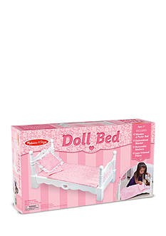 Melissa & Doug Wooden Doll Bed-Online Only