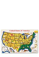 Melissa & Doug® Wooden USA Map Puzzle