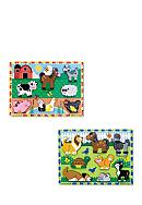 Melissa & Doug® Chunky Bundle- Farm & Pets