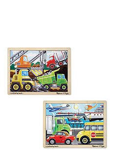 Melissa & Doug® 12-piece Jigsaw Bundle- Vehicles & Construction