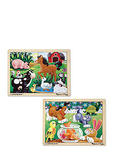 Melissa & Doug® 12-piece Jigsaw Bundle- Farm & Pets