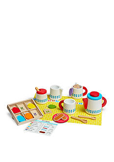 Melissa & Doug® Wooden Steep And Serve Tea Set