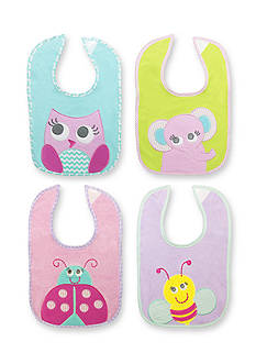 Nursery Rhyme® 4-Pack Animal Bib Set