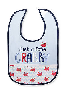 Nursery Rhyme® Embroidered Crab Bib