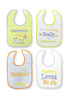 Nursery Rhyme® 4-Pack Embroidered Message Bib Set