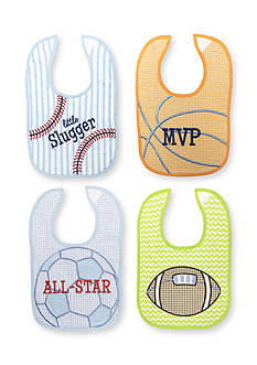 Nursery Rhyme® 4-Pack Sports Bib Set