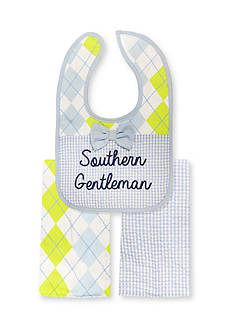 Nursery Rhyme® 3-Piece Southern Gentleman Bib and Burp Cloths Set
