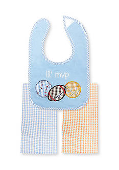 Nursery Rhyme® 3-Piece MVP Sports Bib and Burp Cloths Set