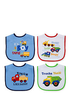 Nursery Rhyme 4-Pack Boy Things Bib Set