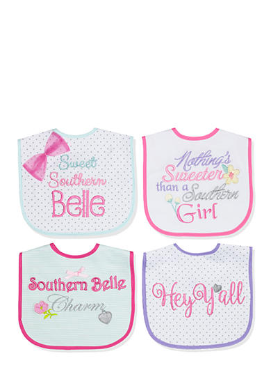 Nursery Rhyme® 4-Pack Multi Southern Belle Bib Set