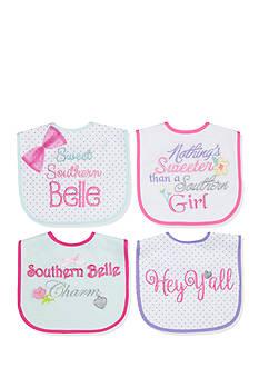 Nursery Rhyme 4-Pack Multi Southern Belle Bib Set