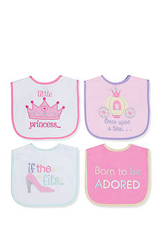 Nursery Rhyme 4-Pack Pink Princess Bib Set