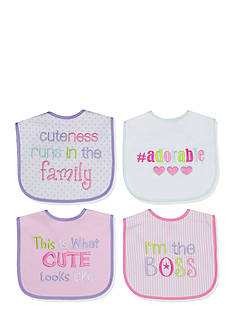 Nursery Rhyme 4-Pack Purple Cutie Bib Set