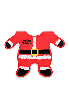 Nursery Rhyme Santa Body Bib