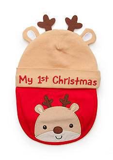 Nursery Rhyme Reindeer Bib With Hat