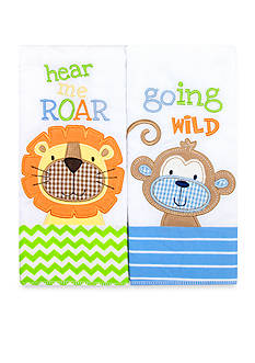 Nursery Rhyme 2-Piece Blue Character Burp Set