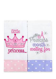 Nursery Rhyme 2-Piece Pink Little Princess Burp Set