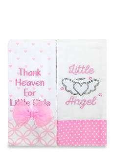 Nursery Rhyme 2-Piece Pink Thank Heaven Burp Set