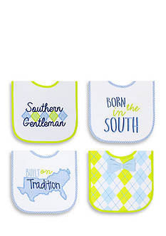 Nursery Rhyme 4-Pack Southern Gent Bib Set