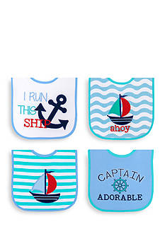 Nursery Rhyme 4-Pack Nautical Bib Set