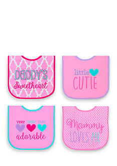 Nursery Rhyme 4-Pack Adorable Bib Set