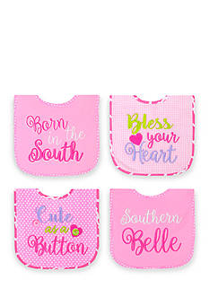 Nursery Rhyme 4-Pack Southern Belle Bib Set