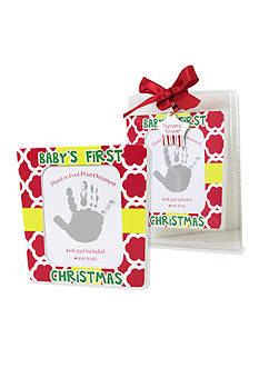 Nursery Rhyme First Christmas Handprint Frame Ornament