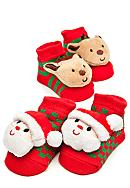 Nursery Rhyme® 2-Pack Christmas Novelty Socks